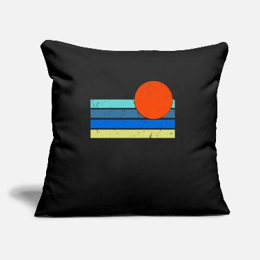 "Strip strip with sun - Throw Pillow Cover 18"" x 18"""