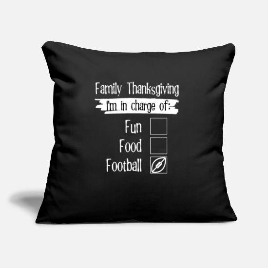 "Reunion Pillow Cases - Thanksgiving Matching Family Reunion In Charge of - Throw Pillow Cover 18"" x 18"" black"