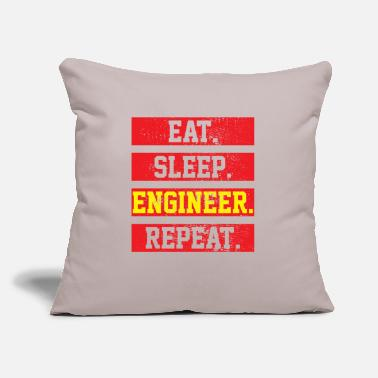 "Engine Engineer Engineering - Throw Pillow Cover 18"" x 18"""