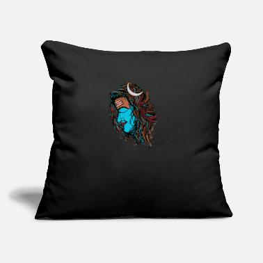 "Shiva The Wandering Peaceful Yogi Lord Shiva - Throw Pillow Cover 18"" x 18"""