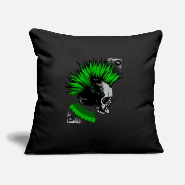"Metal Skull Goth Death Metal - Throw Pillow Cover 18"" x 18"""