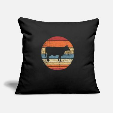 "Moo Retro cow - Throw Pillow Cover 18"" x 18"""
