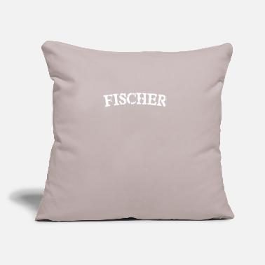 "Surname Fischer Surname - Throw Pillow Cover 18"" x 18"""