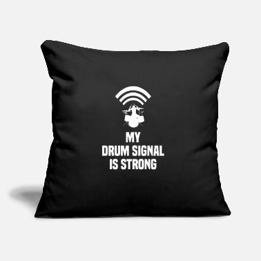 "Musicians Drummer Funny Quote Gift Punk Rock Band Wifi Wlan - Throw Pillow Cover 18"" x 18"""