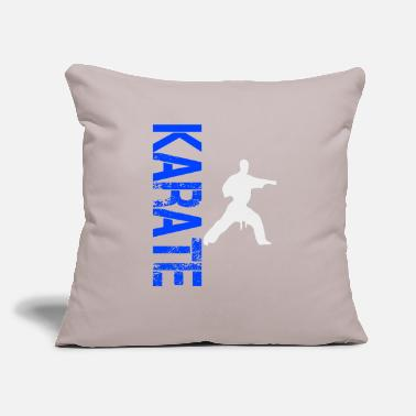 "Karate Karate Karate Karate Karate Karate Karate - Throw Pillow Cover 18"" x 18"""