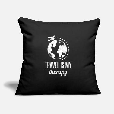 "Travel Traveling Travel - Throw Pillow Cover 18"" x 18"""
