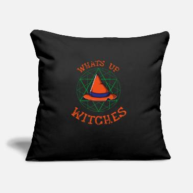 "Witch Witch Witch Costume Witch Hat - Throw Pillow Cover 18"" x 18"""