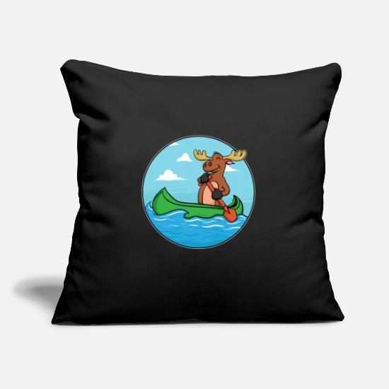 "Stag Pillow Cases - Vintage Deer Elk Moose Hunting Hiking Camping - Throw Pillow Cover 18"" x 18"" black"