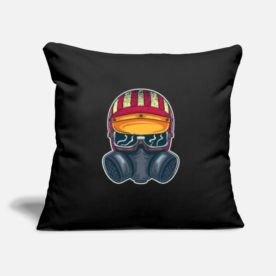 "Diesel Pillow Cases - Hot Rod Drag Racing Racecar American Flag Design - Throw Pillow Cover 18"" x 18"" black"