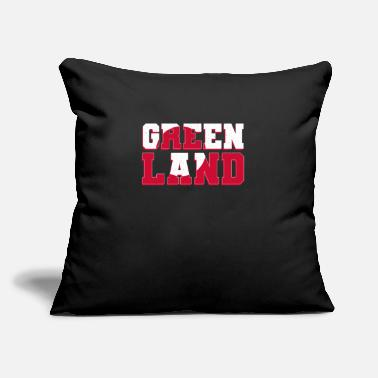 "Greenland Greenland Greenlanders Flag - Throw Pillow Cover 18"" x 18"""