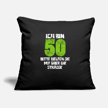 "Round Birthday 50th Birthday Round Birthday - Throw Pillow Cover 18"" x 18"""
