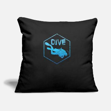 "Dive Dive Diving - Throw Pillow Cover 18"" x 18"""
