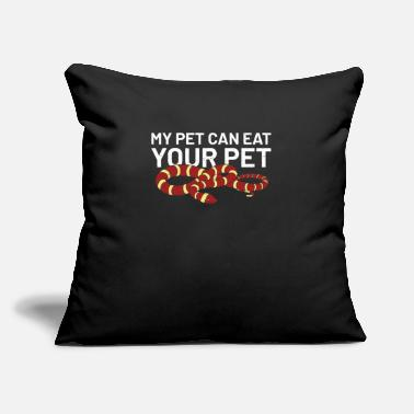 "Cute Animals snakes anaconda python cobra Quote funny awesome - Throw Pillow Cover 18"" x 18"""