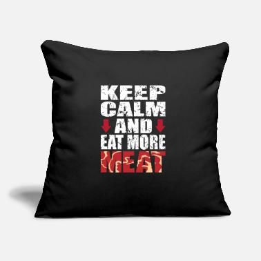 "Meat Meat - Throw Pillow Cover 18"" x 18"""