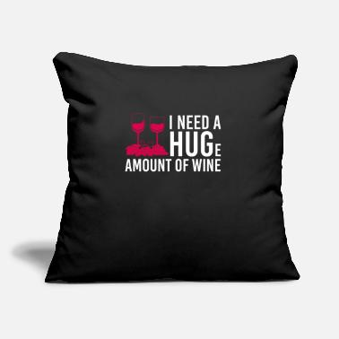 "Mr And Mrs Wine alcohol festival drink w Quote funny awesome - Throw Pillow Cover 18"" x 18"""