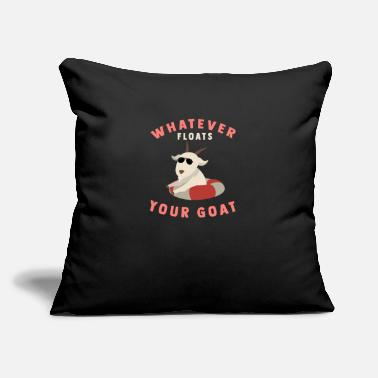 "Goat Floats Your Goat Funny Retro Pet Goat Gift Idea - Throw Pillow Cover 18"" x 18"""