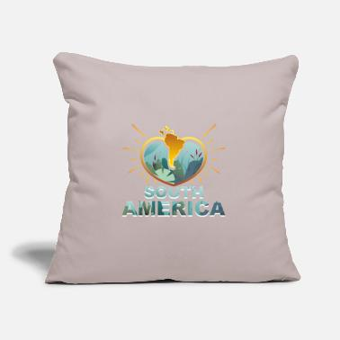 "South America South America - Throw Pillow Cover 18"" x 18"""