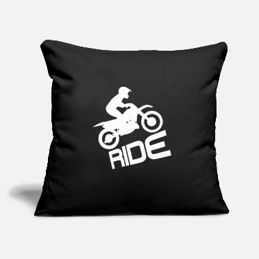 "Motor Sport Ride Motorcycle Motorbike Biker Motor Bike - Throw Pillow Cover 18"" x 18"""