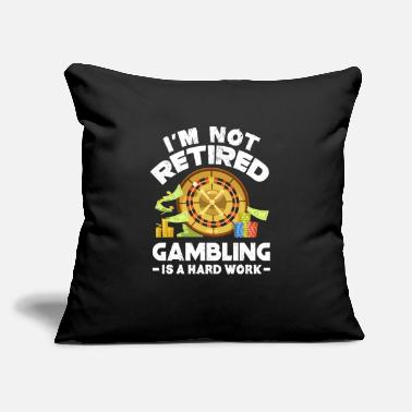 "casino pension - Throw Pillow Cover 18"" x 18"""