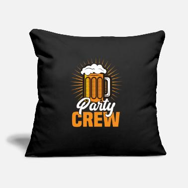 "Funny Dance Mom Beer Party Crew Gift Birthday Funny Fun Drinking - Throw Pillow Cover 18"" x 18"""