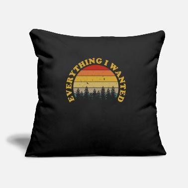 "Logo Everything I Wanted Distressed Sunset Gift Music F - Throw Pillow Cover 18"" x 18"""