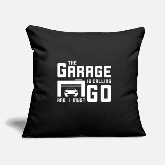 "Automobile Pillow Cases - Tuning - Throw Pillow Cover 18"" x 18"" black"