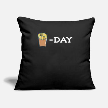 "Popular French Fries Day - Throw Pillow Cover 18"" x 18"""