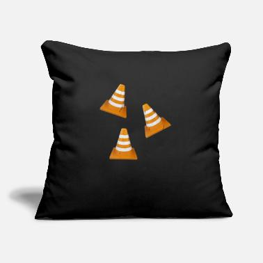 "Traffic Traffic Cone - Traffic Cone - Throw Pillow Cover 18"" x 18"""