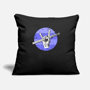 "Band Drumsticks Drummer - Throw Pillow Cover 18"" x 18"""