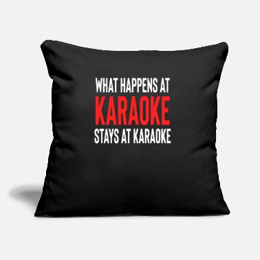 "Fathers Day What Happens At Karaoke Stays At Karaoke - Throw Pillow Cover 18"" x 18"""