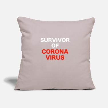 "Virus Corona Virus - Throw Pillow Cover 18"" x 18"""