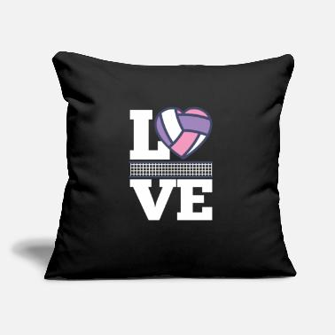"Volleyball Team Womens Volleyball Gift Print Girls Love - Throw Pillow Cover 18"" x 18"""