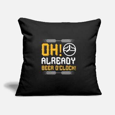 "Oh Already Beer Oclock Oh, Already Beer O'clock! - Throw Pillow Cover 18"" x 18"""