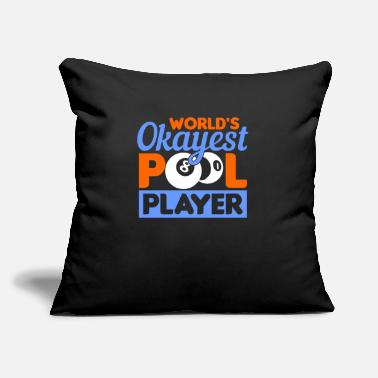 "Eight Balls Pool Player Billiards - Throw Pillow Cover 18"" x 18"""