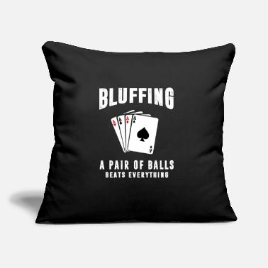 "Poker Casino - Throw Pillow Cover 18"" x 18"""