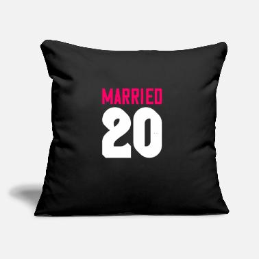 "Doing Married 20 - Throw Pillow Cover 18"" x 18"""