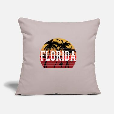 "Caribbean Florida Palm Tree Holiday Motif Gift Idea Design - Throw Pillow Cover 18"" x 18"""