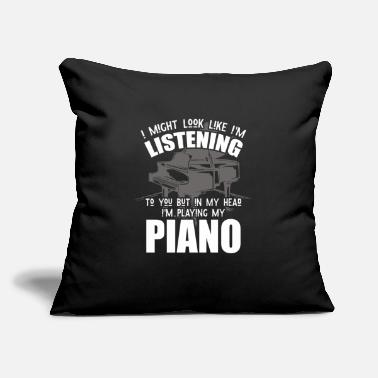 "Piano Piano Musician Piano - Throw Pillow Cover 18"" x 18"""