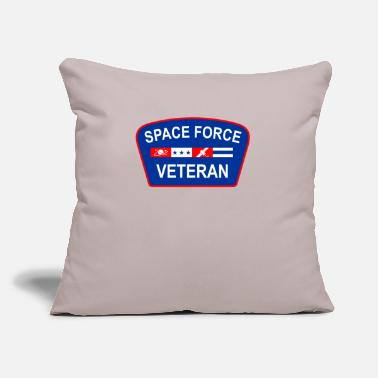 "Navy Space Force Veteran Patriotic - Throw Pillow Cover 18"" x 18"""