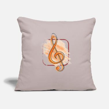 "Instrument Treble Clef - Throw Pillow Cover 18"" x 18"""