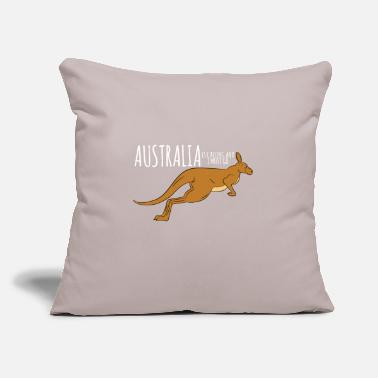 "I Love Kangaroo-Australia Is Calling And I Must Go - Throw Pillow Cover 18"" x 18"""
