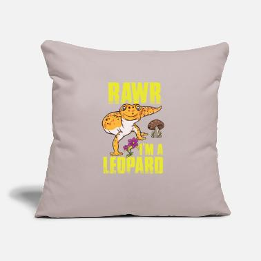 "Leopard Reptiles - Gecko Funny Leopard Cute - Zoo - Throw Pillow Cover 18"" x 18"""