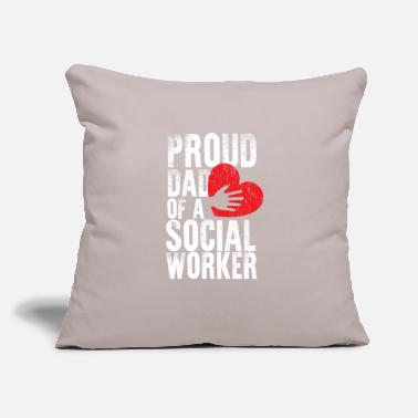 "Health School Social Worker Dad Mental Health - Throw Pillow Cover 18"" x 18"""