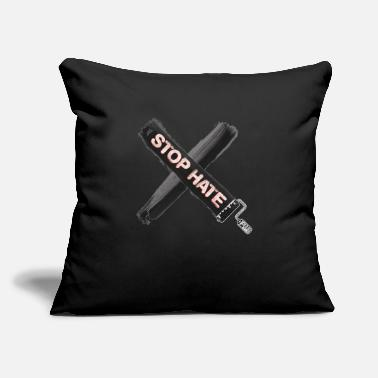 "Stop Hate - Throw Pillow Cover 18"" x 18"""