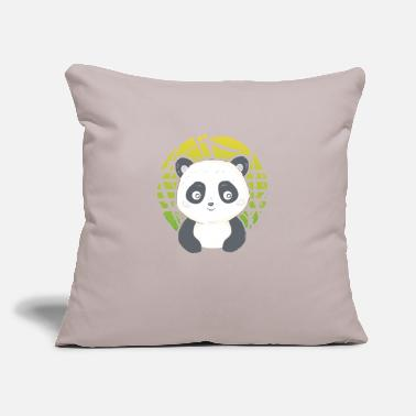 "Mask Cute Gaming Panda rolling Panda Pandemic - Throw Pillow Cover 18"" x 18"""
