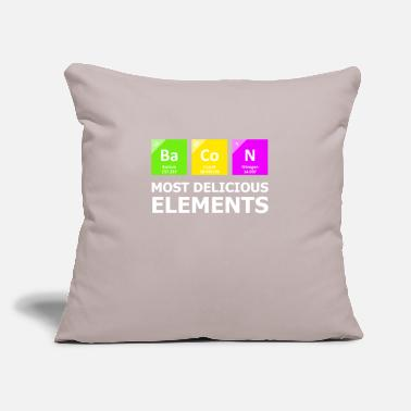 "Periodic Table Bacon Most Delicious Elements - Throw Pillow Cover 18"" x 18"""