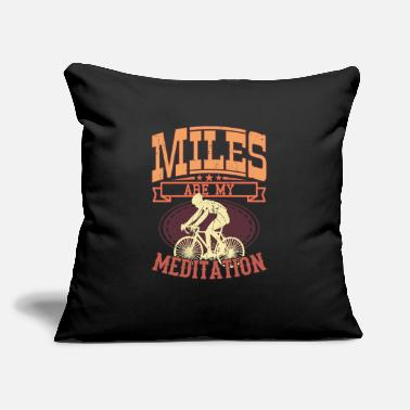 "Bmx MY MEDITATION Funny Racing Bike Rider Gift Cycling - Throw Pillow Cover 18"" x 18"""