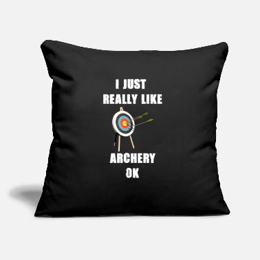 "Arrow Archery archer hobby gift arrow - Throw Pillow Cover 18"" x 18"""