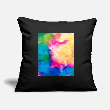 "Boy Abstract Colorful Pattern Yellow Pink Blue - Throw Pillow Cover 18"" x 18"""