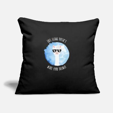 "This Llama doesn't want your drama! - Throw Pillow Cover 18"" x 18"""
